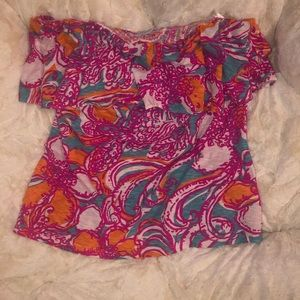 Lily Pulitzer strapless (elastic top) worn once